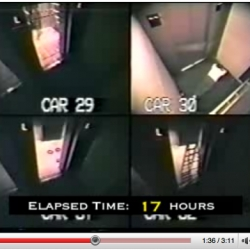A time lapse video and corresponding article of a man trapped in an elevator for 41 hours.