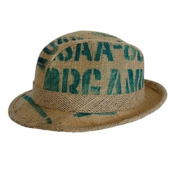 Old Hessian Coffee Sacks make great hats. Ataahua just released these today in nz. Coolest upcycle I've seen in ages.