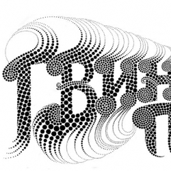 Here's an example of Yehrin Tong's mind bending typography skills...