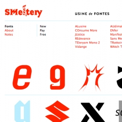 Some great free fonts over at SMeltery...