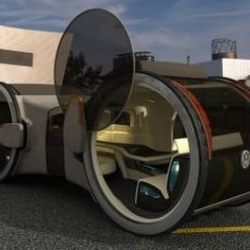 "Concept for the Volkswagon T6 ""office on wheels."" Great. Now you can work on the way home from your 12 hour day at the office."