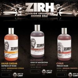 Zirh Warrior Collection ~ interesting idea... making men want to smell like Julius Caesar, Charlemagne, Ulysses, Alexander the Great...