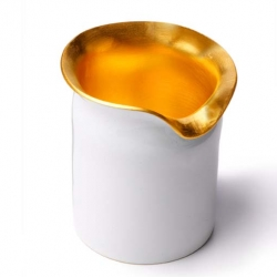 Gorgeous Handmade 14K Gold & Enamel Votive