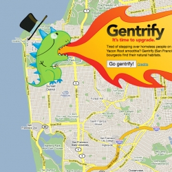 Gentrify! An SF google map mashup ~ with an awesome logo!