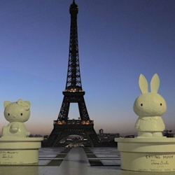 Tom Sachs brings Hello Kitty to the Eiffel Tower!