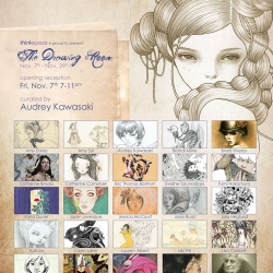 Audrey Kawasaki's new show, installation, and curation of friend's work... The Drawing Room at Thinkspace opens next week!
