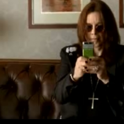 Mumbling Ozzy is the star for the new Samsumg commercial.