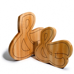 House Industries has an Ampersand Cutting Board! Every typography junkie needs one in their kitchen!