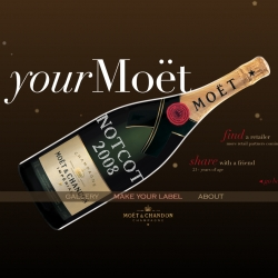 My Moet ~ this holiday season you can get custom swarovski crystalized Moet bottles with the message of your choice