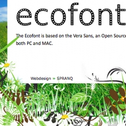 ECOfont save 20% ink by taking circular portions out of the middle of letters.  You could also make your letters grey.
