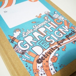 A fun self promotion piece from a new young graphic designer from the UK. The Graphic Design Activity Fun Pack!