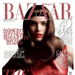 British Harper's Bazaar showcases new logo and achieves world exclusive by placing 200 Swarovski crystals onto each London newsstand copy