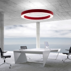 An exquisite ceiling light inspired by the war room in Dr. Strangelove.