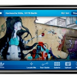 adidas developed an Urban Art Guide for the iPhone for Berlin. You can download it from March 20th. The guide not only shows the regular museums and galleries, but also hidden graffiti pieces around the city.