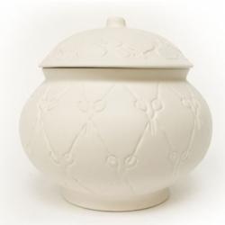 Cute porcelain Knick Knack Pot ~ by Kiki van Eijk ~ fun scissor pattern!