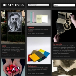 Heavy Eyes is a design blog like no other, well, not really, but we do pride ourselves on liking nice things.