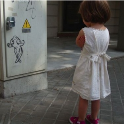 "So so cute - ""Shy Guy"": Seen On The Steets Of Barcelona - by r-X (maybe there should be a kids and street art photoblog?)"