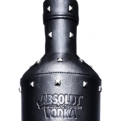 Absolut worked with designer Natalia Brilli on their new Rock Edition bottle. The bottle is entirely wrapped in leather and also features studs.