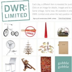 DWR Limited ~ like their own buyable advent calendar (or like delight/charles and marie) ~ this is a special part of DWR where one new product or auction is unveiled daily until xmas!