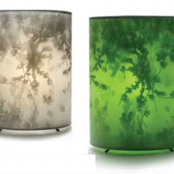 Tord Boontje has come out with new table lamps made of gauze streched over wire. Available in garden green or white, they come out in October.