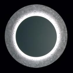 Corian and Swarovski crystals mirror by Bodo Sperlein