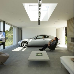 Holger Schubert's minimalist 1200-square-foot carport for Maserati's Design Driven competition - Now this is how to truly appreciate your car and treat it like part of the family.