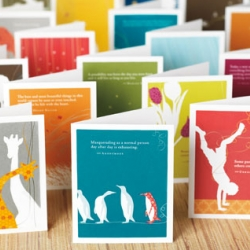 Positively Green Cards - environmentally-friendly greeting cards, and 10% of profits donated to organizations that protect the environment and fight global warming.
