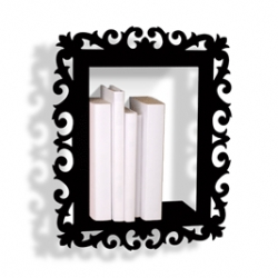 "These Book ""shelves"" are wall mounted picture frames. 3 different styles, all beautiful. Produced by Presse Citron and designed by Clotilde de GRAVE  and  Didier CHAUDANSON. size: 40x32x8.5cm"
