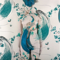 Australian artist Emma Hack's body art is just unbelievable. Her series in which she paints nudes against Florence Broadhurst wallpaper is really impressive.