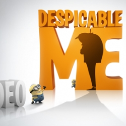 "Super clean and fun site by Ted Perez + Associates for the animated movie ""Despicable Me"""
