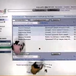 To promote in Russia Gmail, Google along with the agency Saatchi & Saatchi, manually created a giant  gmail interface in stop motion.