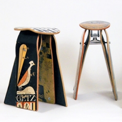 Deckstools ~ inhabitat has a great look as these really fun transformations ~ from broken skateboard decks to awesome stools ~ and custom cushions coming soon too...