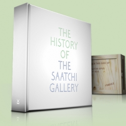 The Saatchi Opus is THE book for contemporary art lovers. 850 pages about the history of the Saatchi gallery, it comes in an art inlaid wooden crate and is limited to 950 editions hand signed by Charles Saatchi