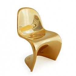 The opening of the Panton Chair exhibition in Tokyo is being celebrated with the release of this limited edition mini version of the iconic chair in metallic gold!