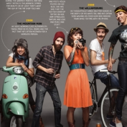 The Evolution of the Hipster 2000-2009 - spread in Paste magazine - from emo to present day...