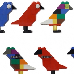 The new Dee & Ricky bird Lego brooches for Japanese brand Roc Star look really cute!