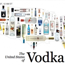 With craft distilleries popping up left and right, is vodka the true American spirit? Valet explores ... love the interactive map.