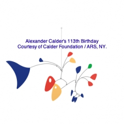 Google celebrates Alexander Calder's 113th Birthday.