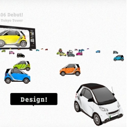 play Smart ~ super cute japanese smart car flash site where you can customize and play with smart cars!