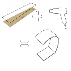 This is a DIY kit version of Coactlab's Kelvin Slider Bent Ply LED Lamp.  It comes with everything you need, even the heat gun for bending the plywood!