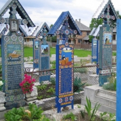 Creative gravestones on the Romanian cemeteries. Every burial - it's a great story of life and death. No sorrow, only folk art and a bit of fun.