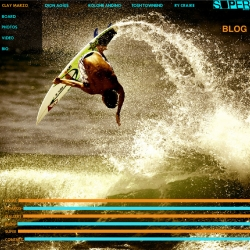 A surfboard company that works more like a skate brand? Kinda a awesome idea. Check out the all flash site created by Shiloh interactive.