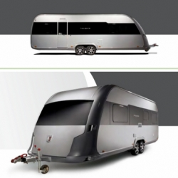 """The Paganini Caravan from Tabbert is the way I want to road trip! An effort to revitalize the brand, this caravan may very well do away with the term """"trailer trash""""."""