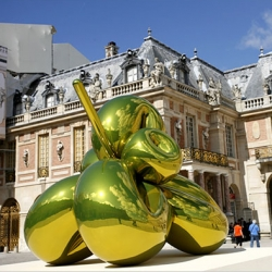 NYT has a great slideshow of the Koons at Versailles