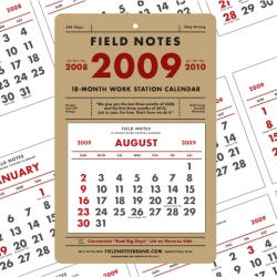 Field Notes are expanding into mini 18 month calendars!