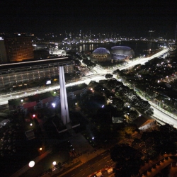 The Singapore Grand Prix: the first ever night Formula One race.  Beautiful pictures, including a few fun ones taken with tilt-shift lenses.
