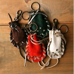"There's always been something so nice about little leather shaman like pouches ~ ""We The Free Vision Quest Key Chain"" from Free People would make fun stocking stuffers!"
