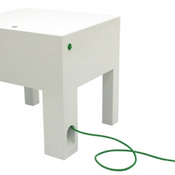A multifunctional desk/charge your entire electronic life, designed by Johanna Strand.