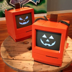 Mac-O-Lanterns are adorable ~ best halloween recycling project yet! Instructions on Instructables