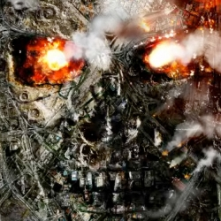 Poster design for Terminator Salvation uses Google Satellite images